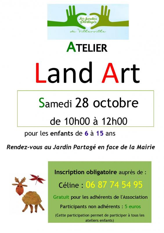 Affiche atelier enfant land art