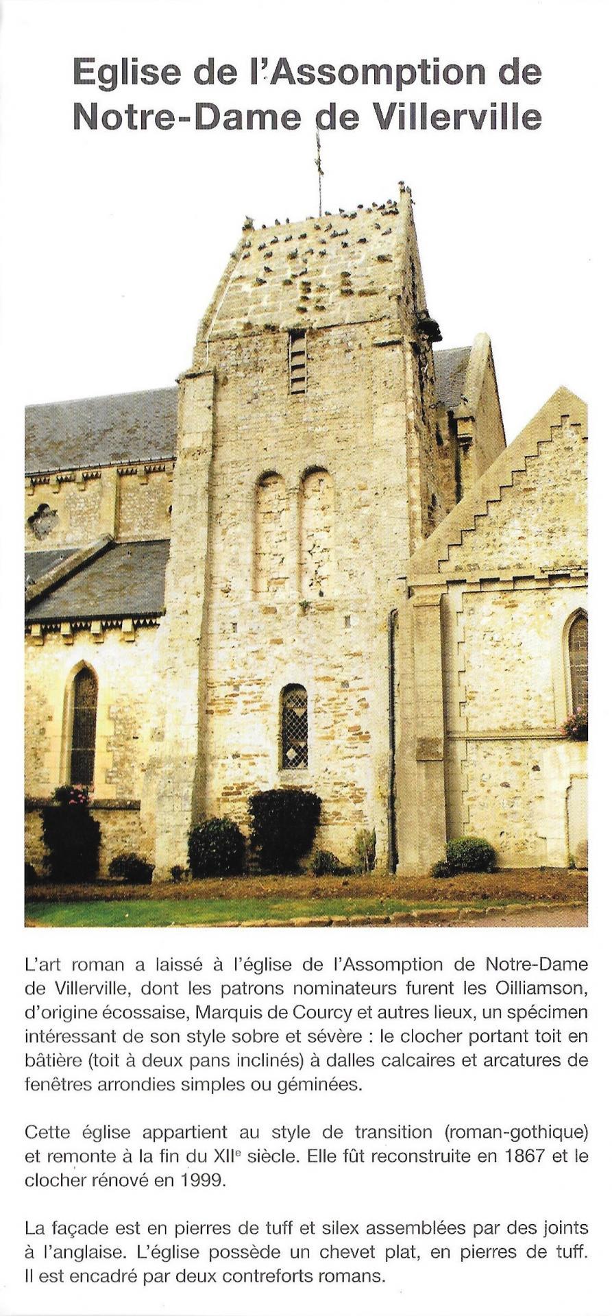 Dépliant église de Villerville