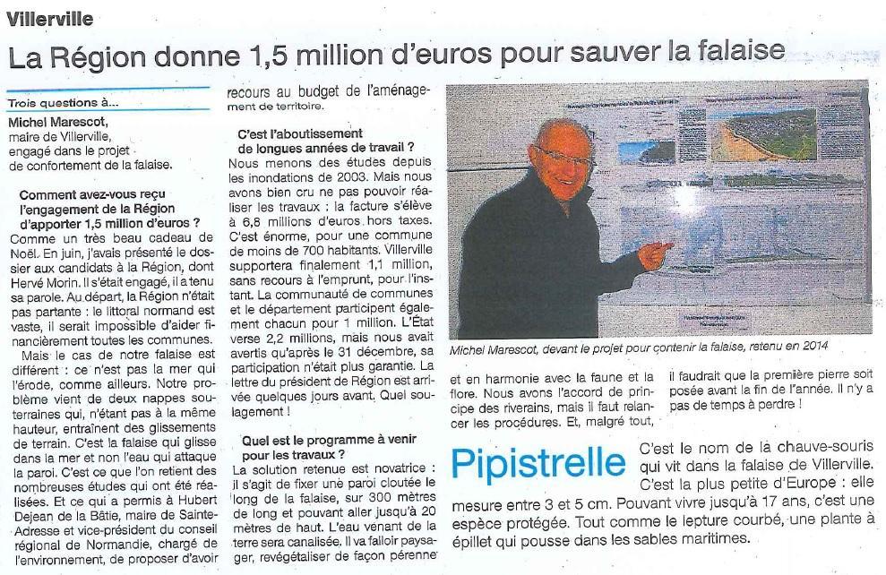La Région donne 1,5 million d'euros pour sauver la falaise