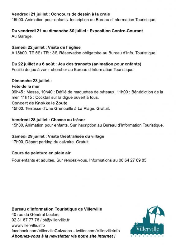 Flyer programme juillet 2017