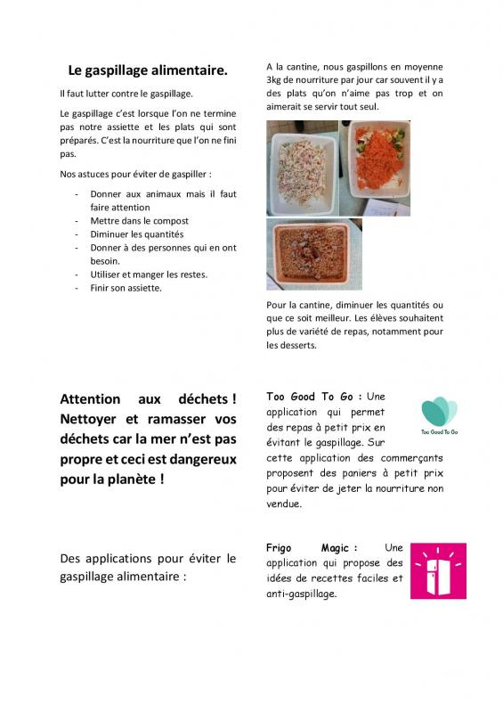Journal le gaspillage alimentaire page 002
