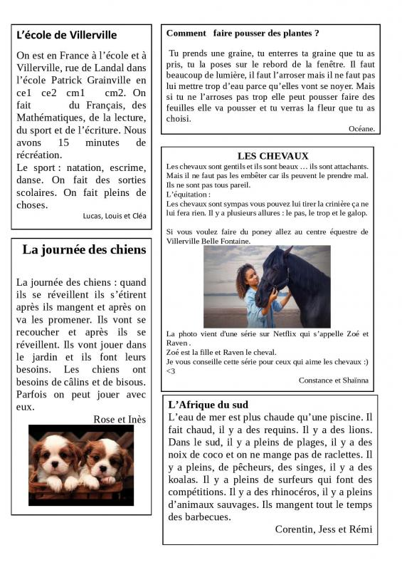 Journal le gaspillage alimentaire page 003