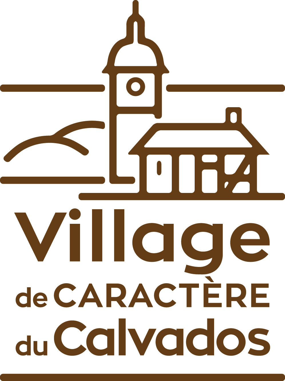 Label village de caractere quadri